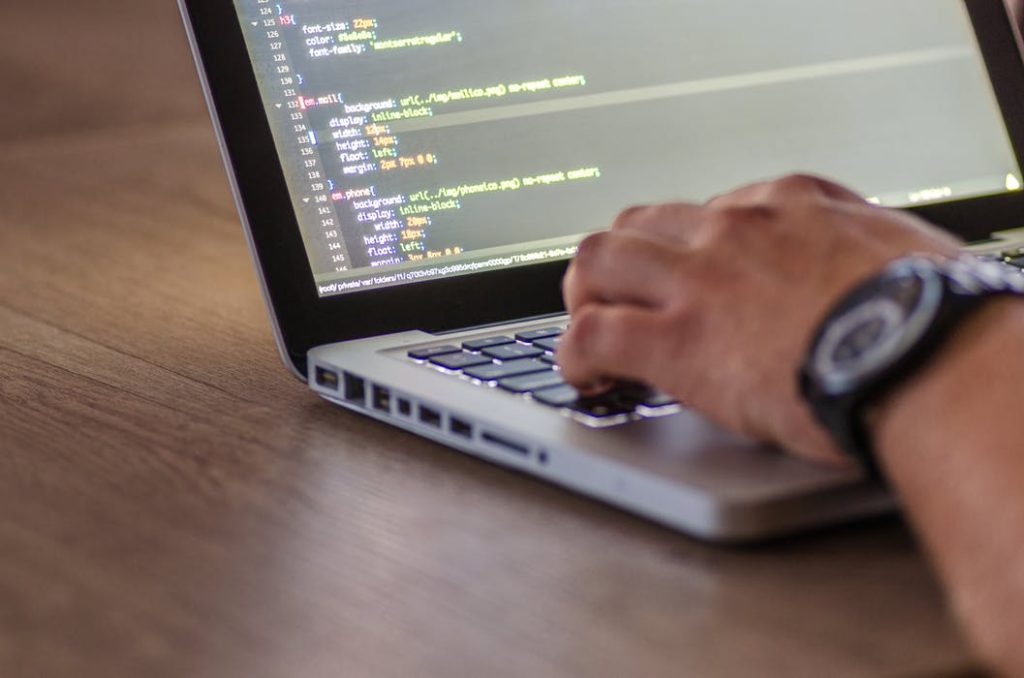 Web design & development specialist coding