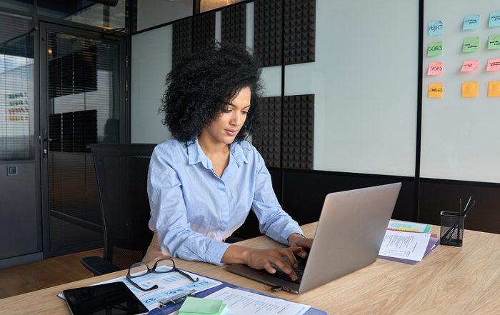 Woman getting IT internships